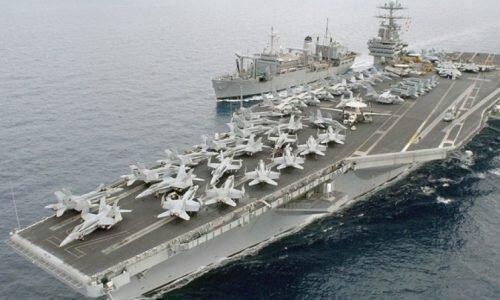 ورود ناو هواپیمابر هسته ای آمریکا و 12 کشتی جنگی به دریای مدیترانه
