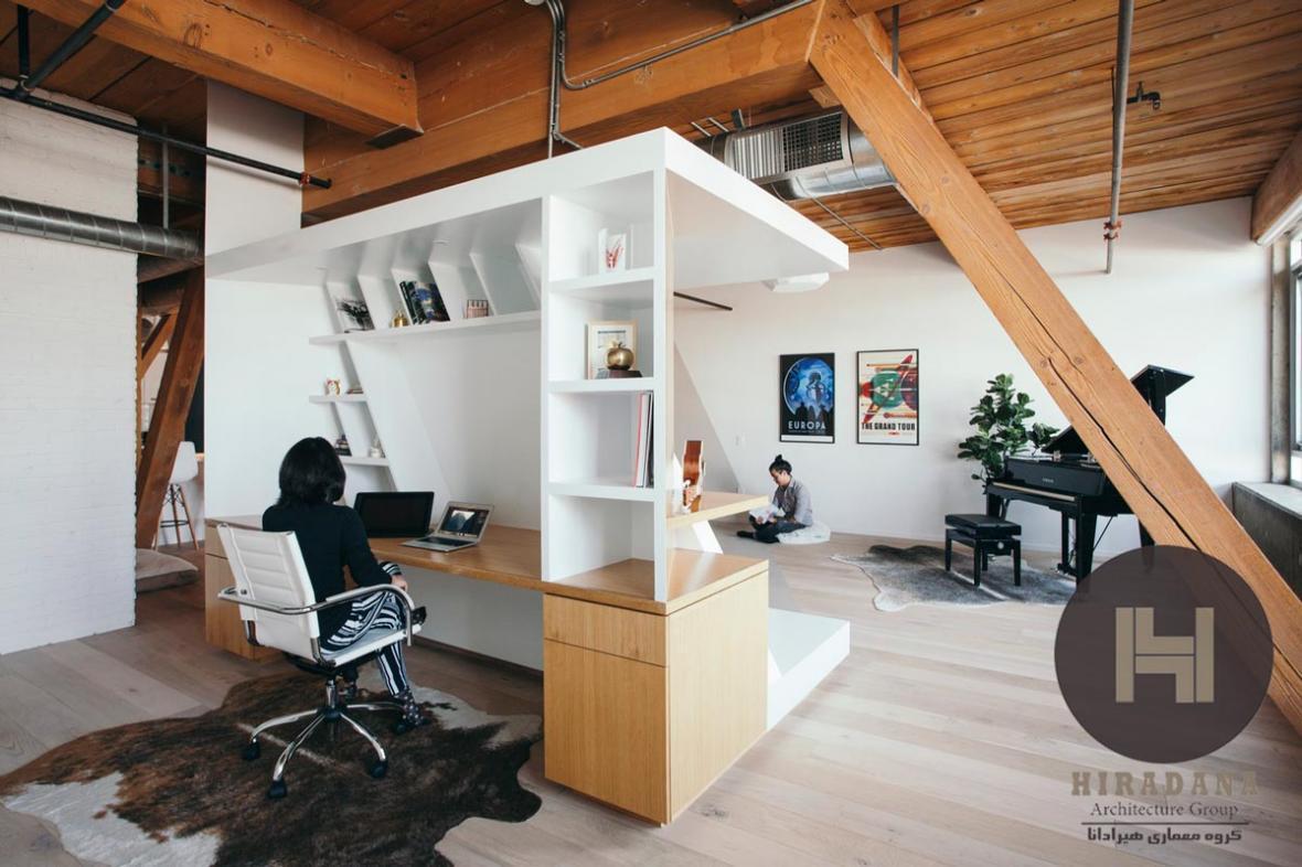 بازسازی خانه ای برای یک زوج نویسنده در آمریکا