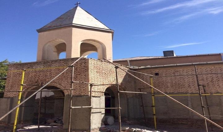 فاز دوم عملیات حفاظت و بازسازی کلیسای تاریخی هوانس مراغه خاتمه یافت