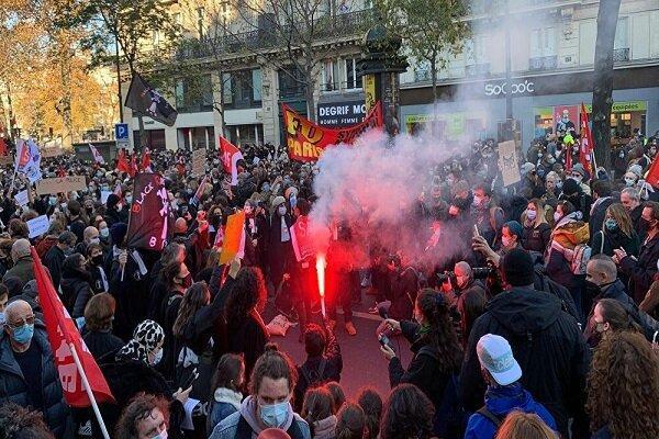 تظاهرات گسترده مردمی در پاریس در اعتراض به قانون امنیتی جدید