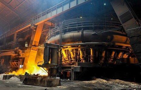 افزایش توان صادراتی و بهبود ارزش افزوده ذوب آهن با راه اندازی کوره شماره یک