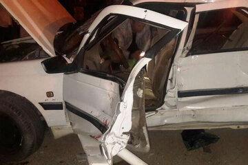 سانحه رانندگی در جاده شوش - اندیمشک پنج مصدوم برجا گذاشت