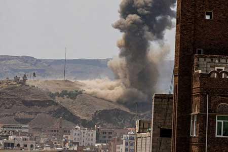 حمله جنگنده های ائتلاف متجاوز سعودی به صنعاء
