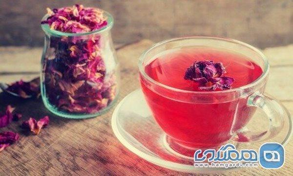 پاکسازی معده با دمنوش گل محمدی