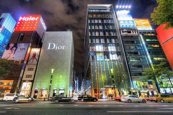 خیابان گینزا، منطقه ای لوکس برای خرید در توکیو ، عکس