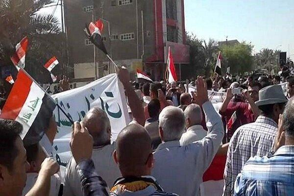 اعتراضات به قطع برق در استان الدیوانیه عراق