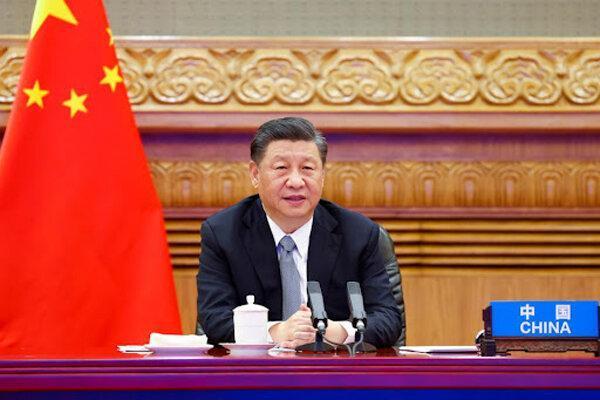 رئیس جمهور چین به وسیله مجازی در اجلاس سازمان ملل سخنرانی می نماید