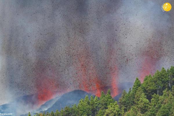 فوران مهیب آتشفشان در جزایر قناری